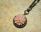 Sweet Peach Locket Necklace