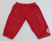 Batiked Flower Baby Pants Red