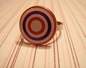Purple and Red Bullseye Ring