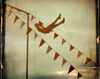 Gold Trapeze Artist Photograph--The Daring Young Man...--Fine Art