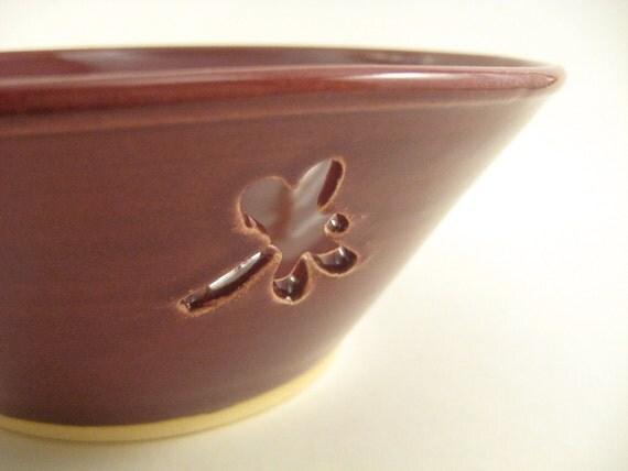 Ceramic Yarn Bowl Raspberry Red, Gift Under 50