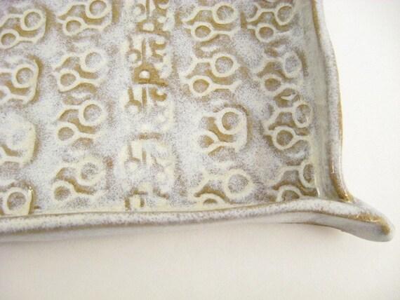 Creamy White Soap Dish\/Trinket Dish