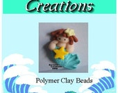 Whimsical Polymer clay Mermaid Bead