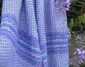 Handwoven Silk Shawl/Wrap - Wisteria
