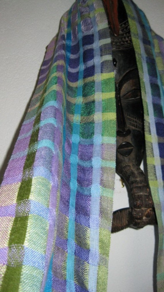 Handwoven Scarf in Silk and Wool