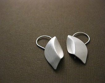 Sterling Sliver Handmade, Elm Leaf Earrings I