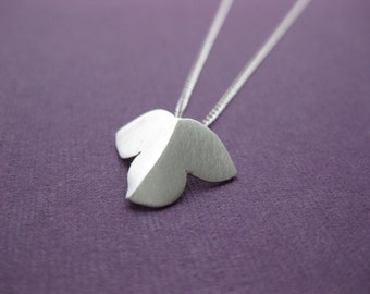 Sterling Silver Handmade, Montpellier Maple Leaf necklace