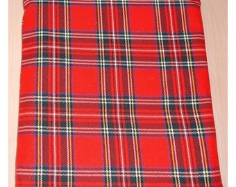 """Plaid Kindle 6 Wi-Fi Paperwhite or Kindle Touch 6"""" Nook or Kobo Tablet Sleeve Red Tartan Check Case Cover"""