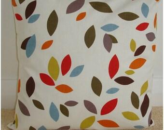 "18x18 Zippered 18"" Pillow Sham 18"" Cushion Cover Red Orange Blue Mustard Leaves Case Slips Cushion Cover Pillowcase Leaf New"
