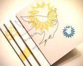 Valentine Sunshine (set of 4 note cards with envelopes)
