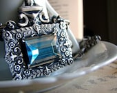 Experimental No.3 - Last One, Russian Princess - Blue Crystal Necklace in Silver