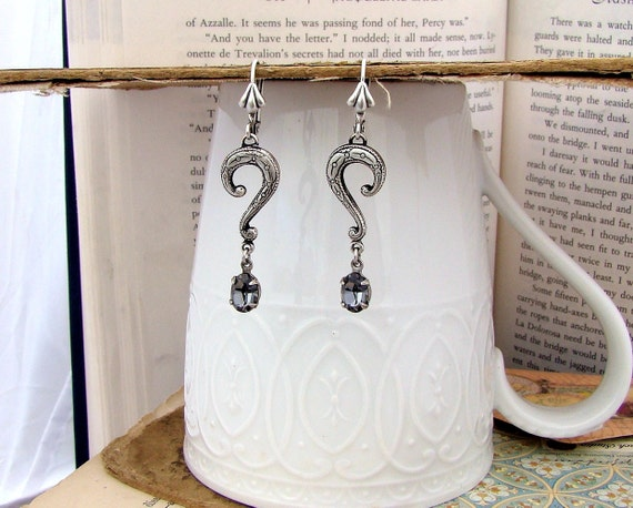 Enigma - Neo-Victorian Earring Silver