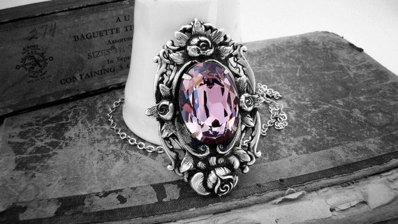 Sweet Lullaby - Neo Victorian Gothic Necklace Series in Silver