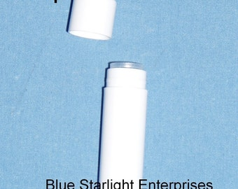 100 new empty white Lip Balm tubes - make your own - same size as the big names item 300