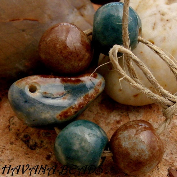 RESERVED LISTING For HONEYANDDOLLIE - Handmade Ceramic  Beads