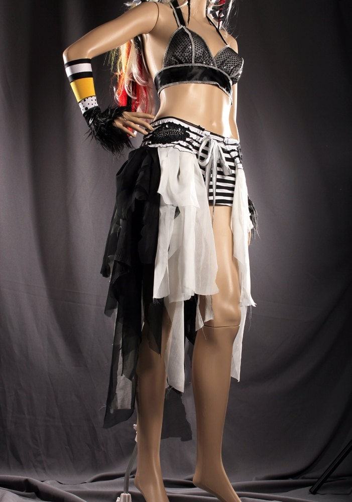 Lycra cotton gothic Tribal Belly Dance mini skirt Belly ... |Gothic Belly Dance Skirts