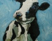 Print Cow132 10x10 inch Print from oil painting by Roz
