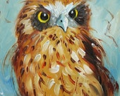 Owl 7 10x10 inch Print from oil painting by Roz
