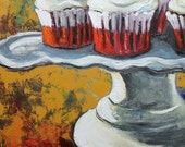 Cupcake 102 24x30 inch original oil painting by Roz SALE