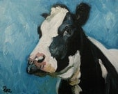 16x20 Print of oil painting Cow20 by Roz