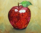 Apple 6 12x12 inch original oil painting by Roz