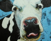 Cow painting 495 24x24 inch original oil painting by Roz