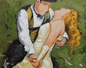 Commission your own Dance custom portrait painting by Roz