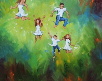 Commission your own Leap custom oil portrait painting by Roz