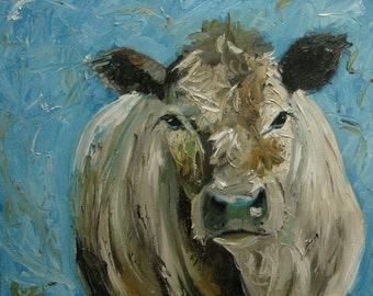 Cow36 16x20 Print of oil painting by Roz