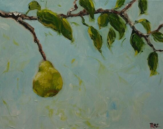 SALEEEE  ooPears2 16x20inch original oil painting by Roz