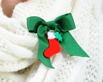 Christmas Stocking Brooch Pin,Christmas Jewelry