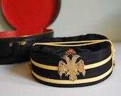 Vintage Hat Scottish Rite Hat and Matching Case, 32nd Degree Freemason
