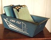 Vintage Kwik File Industrial Steel File Box