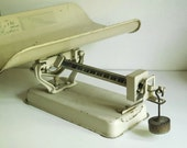 Vintage Scales Detecto Baby Scale, 30 Pound Beam Type Chippy Industrial Shabby Chic