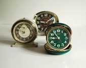 Vintage Alarm Clock Instant Collection, Two Baby Bens and a Linden Travel Alarm