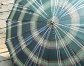 Vintage Plaid Umbrella with Lucite Handle