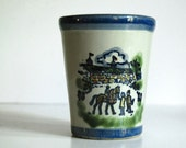 Reserved for Ursula -- 1981 Kentucky Derby Mint Julep Cup Louisville Stoneware Tumbler