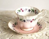 Vintage Teacup and Saucer Royal Albert 4473 Bone China Cup with Spring Flowers