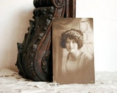 Vintage Postcard WWI Postcard of Girl, 1918 NPG 2701 Sepiatone Portrait Art Nouveau