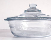 Vintage Casserole Fire King Sapphire Blue Philbe Glass Serving Dish 1 1/2 Quart
