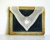 Vintage Crochet Lace Collar or Yolk, Antique Trim Sewing Supplies