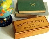 Vintage Wood Box Six Point Wonder Pen Woodworking Pen or Rustic Pencil Container