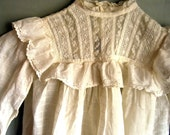 Antique Eyelet and Lace Toddler Dress and Photo, Circa 1910