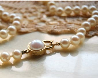 Vintage Faux Pearl Necklace White Choker Costume Jewlery Retro Wedding Preppy Fashion June Cleaver Classic Accessories