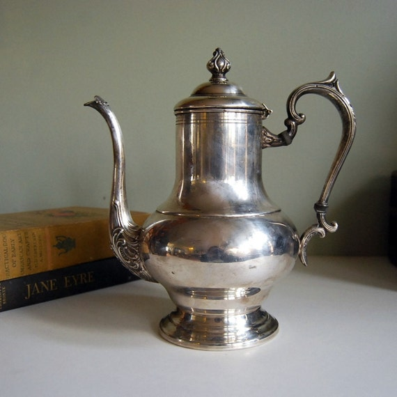 Vintage Teapot Silver Plate on Copper Teapot, by Crosby