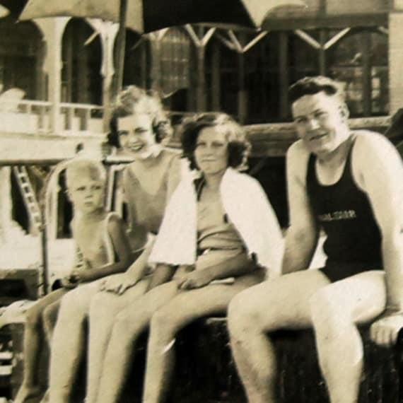 Vintage Postcard 1920s Real Photo Saltair Beach, Utah (no. 1), Sepia Photograph