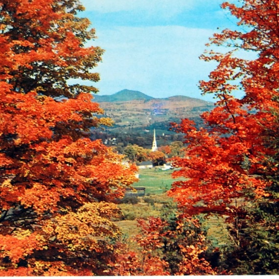 Items Similar To Vintage Postcard, Autumn In Stowe
