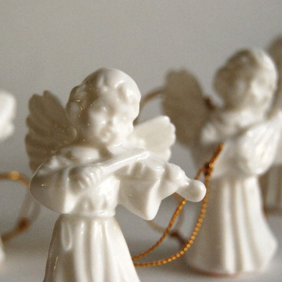Vintage Angels, Porcelain Christmas Angel Ornaments from Gift World of Gorham Figurines