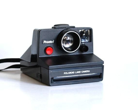 Vintage Camera Pronto Polaroid Land Automatic Instant Camera with Case and Manual