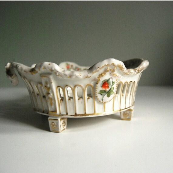 Antique Bowl Von Schierholz Porcelain Centerpiece Bowl